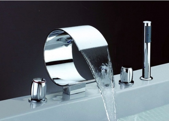 Faucets Images Five Installation Hole Waterfall Bathtub