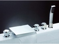 Five-Installation Hole Waterfall Bathtub Faucet ( Chrome Finish )