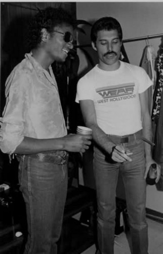 Freddie Mercury and Michael Jackson♥