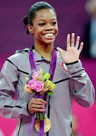 Gabby After Winning A emas Medal