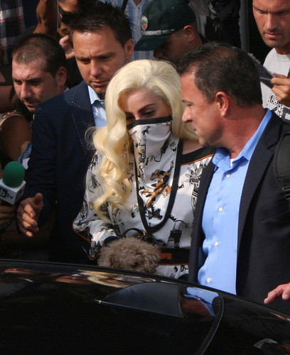 Gaga arriving in Sofia, Bulgaria (Aug. 11)