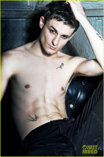 Giles Matthey: Shirtless for JustJared Shoot