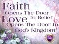 God, Faith, and Love