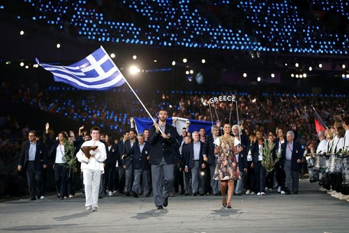 Greece- Entrance in the Olympic Stadium-London 2012