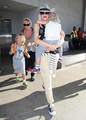 Gwen Stefani And Son Arriving On A Flight At LAX [August 8, 2012] - gwen-stefani photo