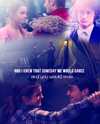 Harry and Hermione wallpaper possibly with a concert called Harmony Dance