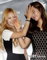 Hyoyeon & Yuri @ S.M. Art Exhibition