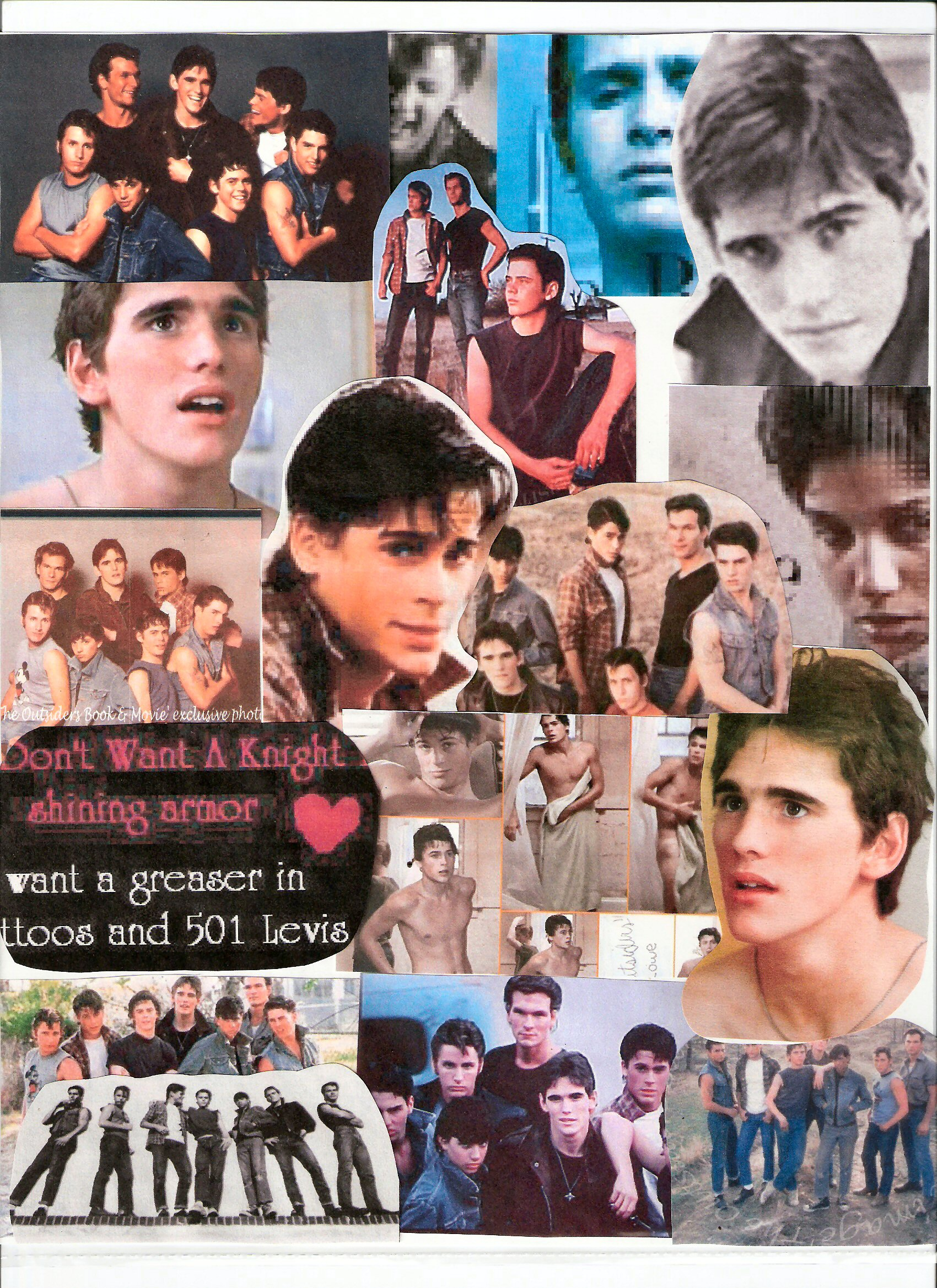 the outsiders dally wallpaper