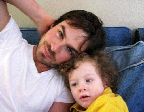 Ian Somerhalder with his nephew