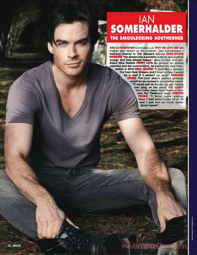 Ian in Hello! Magazine