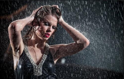In the rain!