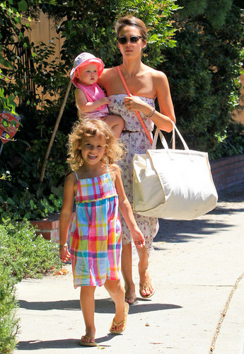 Jessica Alba and Family in Brentwood [August 5, 2012] - jessica-alba Photo