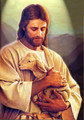 Jesus and the Lamb - jesus photo
