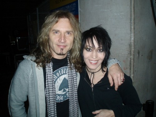 Joan with Eric Singer (drummer of KISS)