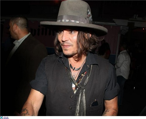 Johnny Depp at Aerosmith concert, August 6