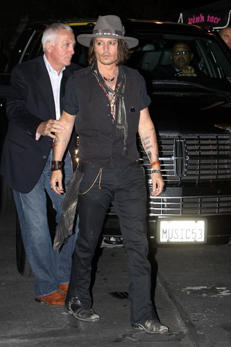 Johnny Depp wallpaper containing a business suit and a well dressed person called Johnny at Aerosmith Concert Afterparty - Aug. 6 2012