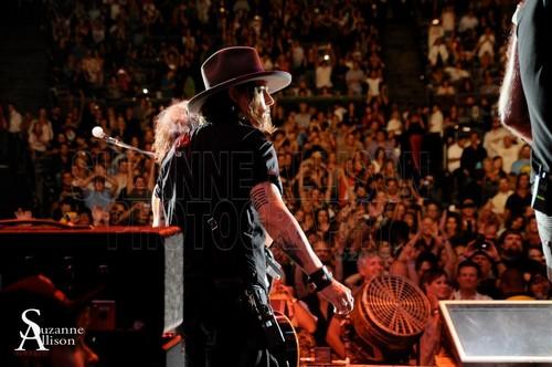 Johnny @ the Aerosmith concert