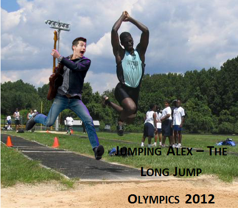 Arctic Monkeys karatasi la kupamba ukuta entitled Jumping Alex! at the Olympics
