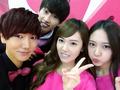 Jung Sisters, Yesung & Eunhyuk Selca @ Yesung Twitter