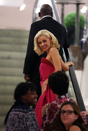 Katherine Jenkins performs at an exclusive customer evening at Selfridges