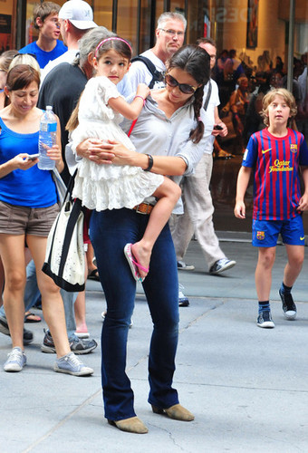 Katie Holmes and Suri in NYC [August 6, 2012]