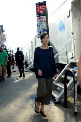 "Keira Knightley on the set of ""Can a Song Save Your Life?"" in NYC. 6 august 2012"