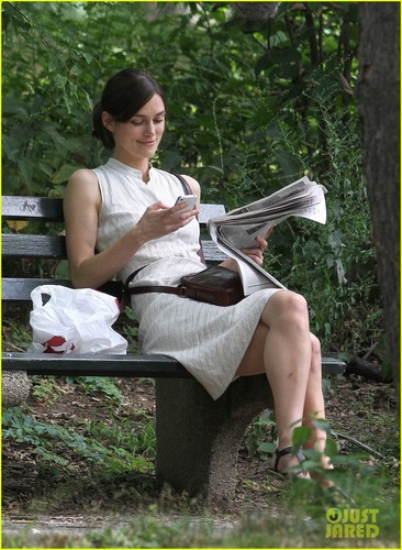 Keira on the set of her movie Can A Song Save Your Life?