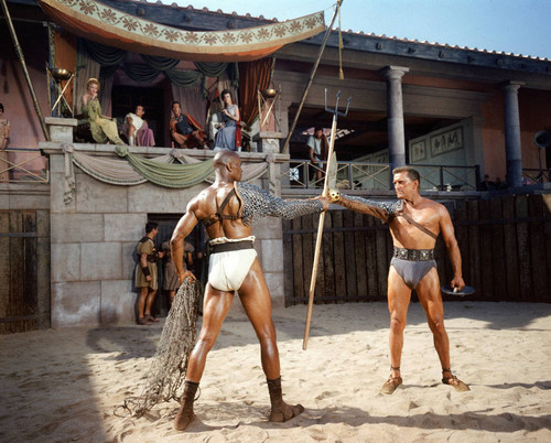 Kirk Douglas and Woody Strode 'Spartacus' 1960