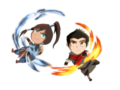 Korra&Mako - avatar-the-legend-of-korra fan art