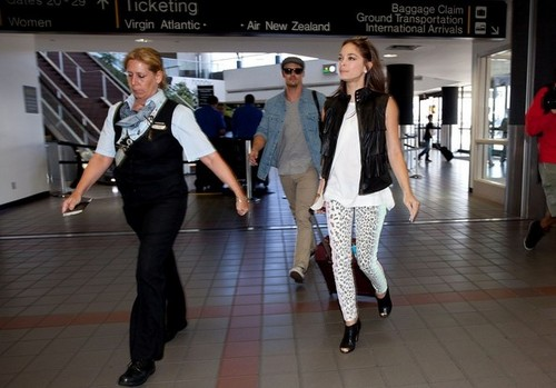 Kristin and جے at Los Angeles Airport (July 4th, 2012)