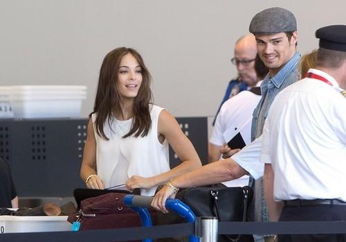 Kristin and gaio, jay at Los Angeles Airport (July 4th, 2012)