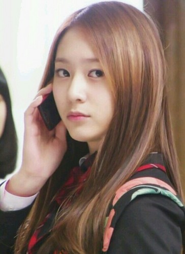 Krystal on the phone
