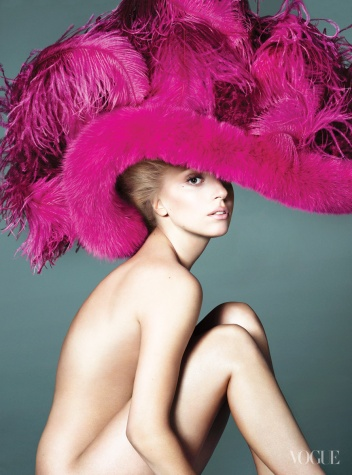 Lady Gaga wallpaper probably containing a sombrero entitled Lady Gaga for Vogue September 2012 Issue