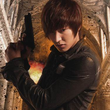 Lee Min Ho wallpaper probably with a street, an agave tequilana, and a sign entitled Lee Minho city hunter