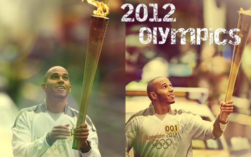 Lewis & Olympic Torch