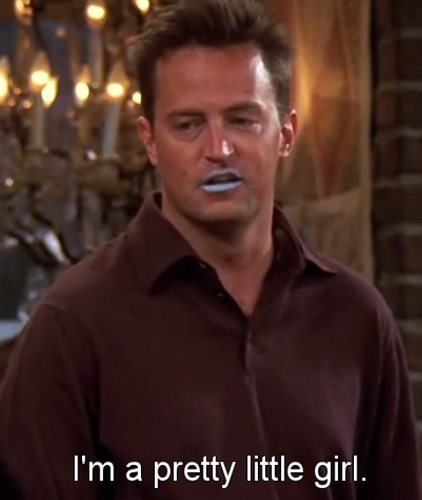 Chandler Bing wallpaper probably with a portrait entitled Lipstick for Men
