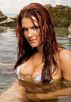 WWE Divas achtergrond containing a hot tub, a bikini, and a bader titled Lita Photoshoot Flashback