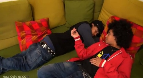 LOL Princeton his tryin' to Wake Roc up but Roc didn't Wake.