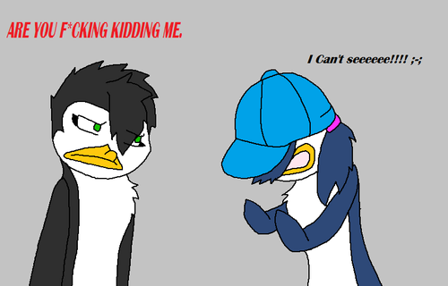 Loren tries on Vic's hat! XD