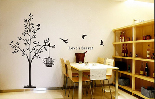 Love's Secret Birds with درخت دیوار Sticker