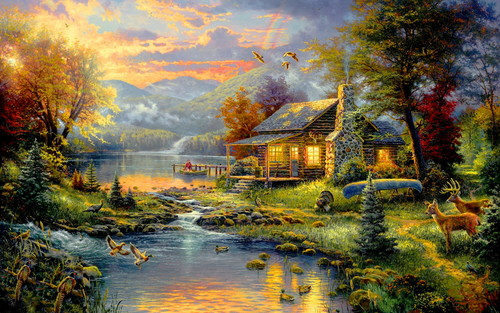 Lovely House - daydreaming Wallpaper