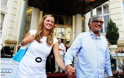 innamorati ? No. Jiri Bartoska and Petra Kvitova, which was welcomed in Karlovy Vary.