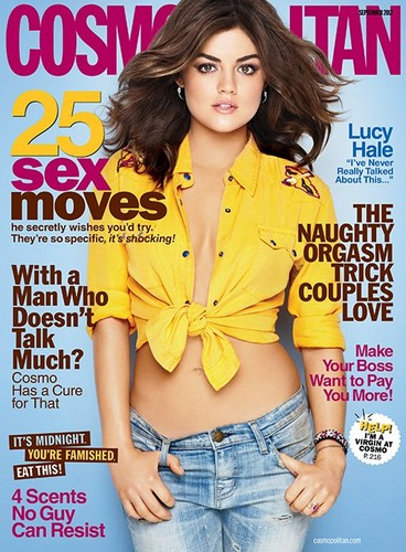 Lucy Hale Covers Cosmopolitan September 2012
