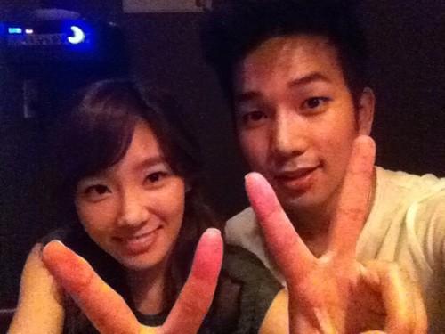 MBLAQ G.O Selca With Taeyeon