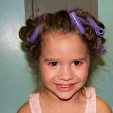 Mackenzie With Curlers In Her Hair