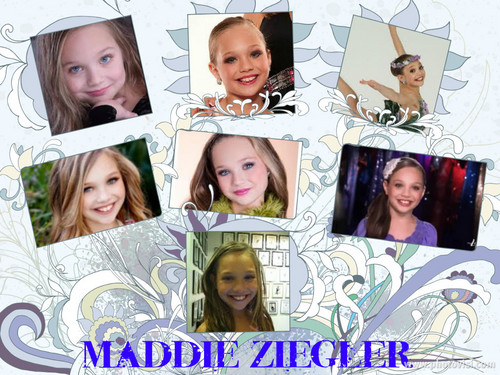 Мамы в танце Обои called Maddie Ziegler collage