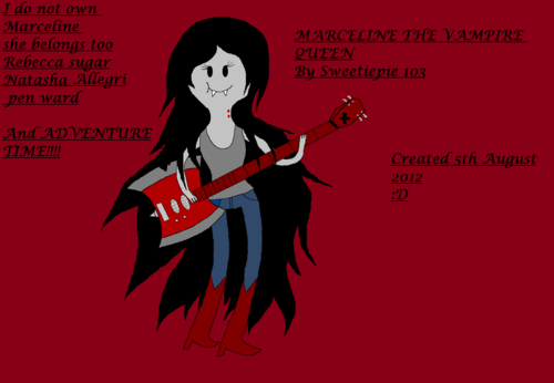Marceline the vampire queen first attempt :D