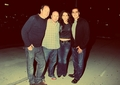 Melina Kanakaredes, her husband and friends at a Bruce Springsteen concert