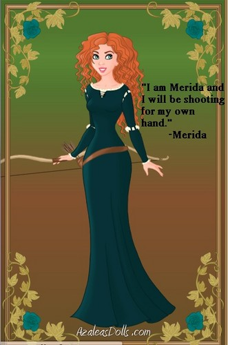 Brave wallpaper probably containing a dinner dress, a gown, and a cocktail dress called Merida