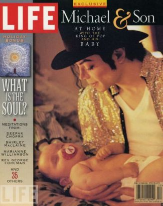"Michael And Baby Prince On The Cover Of Decembert 1997 Issue Of ""LIFE"" Magazine"